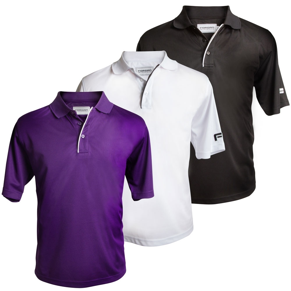 Forgan Mens MXT Golf Polo Shirts 3 pack
